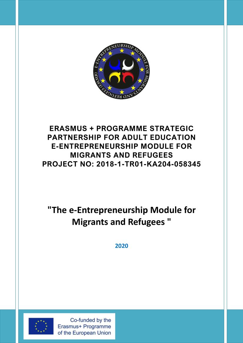 The e-Entrepreneurship Module for Migrants and Refugees